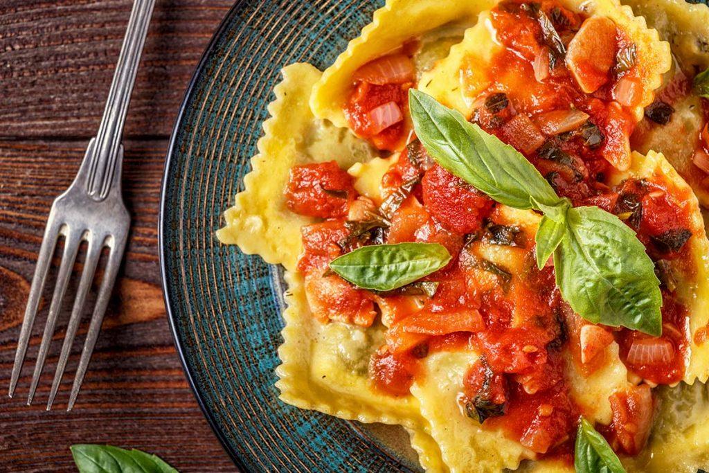 ravioli, ricotta, pecorino, abruzzese, abruzzo, rustichella, rustichella d'abruzzo, farina, bio, olio, extra vergine