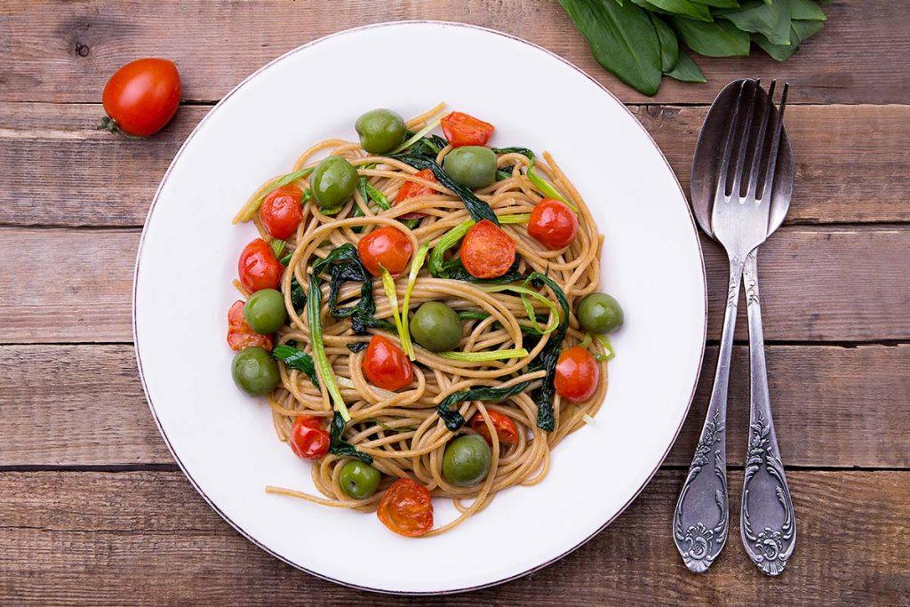 senatore cappelli, bio, biologico, pasta, rustichella, rustichella d'abruzzo, olive, pomodorini, spaghetti, integrali