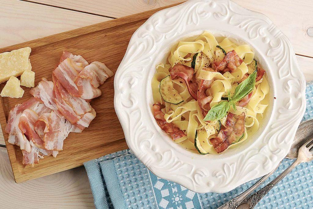 Casa Rustichella Tagliatelle con Pancetta Zucchine e Pecorino ricette