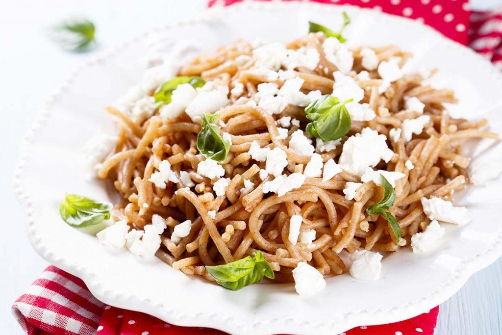 Casa Rustichella Spaghetti Farro con feta e basilico ricette