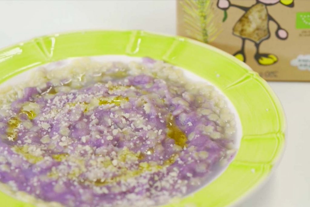Casa Rustichella Stelline ZEROTRE con purea di patate viola ricette