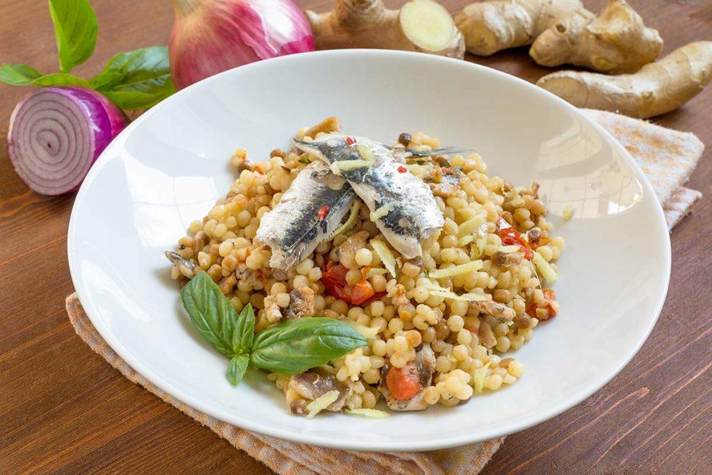 Casa Rustichella fregola sarda con sardine e zenzero ricette