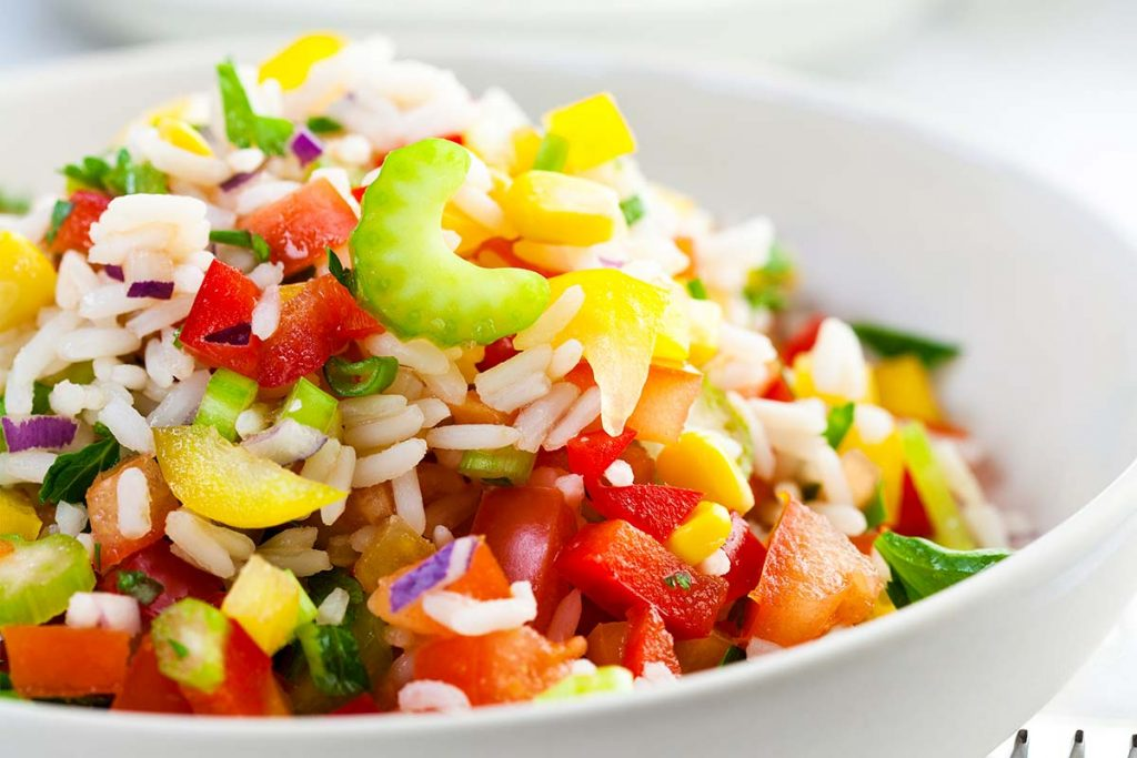Casa Rustichella insalata di riso arborio con verdure colorate ricette