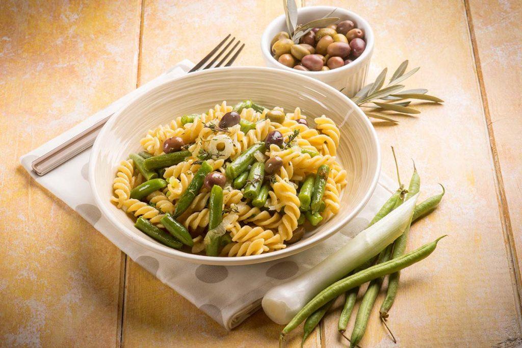 Casa Rustichella Fusilli mais Bio con fagiolini e olive taggiasche ricetta