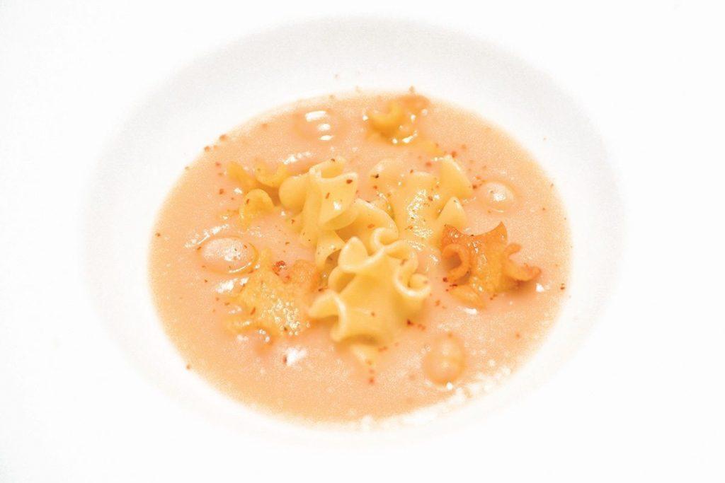 Casa Rustichella a tavola con gli chef fagioli tondini del Tavo con morbido e croccante di sagne a pezzi Rustichella ricette