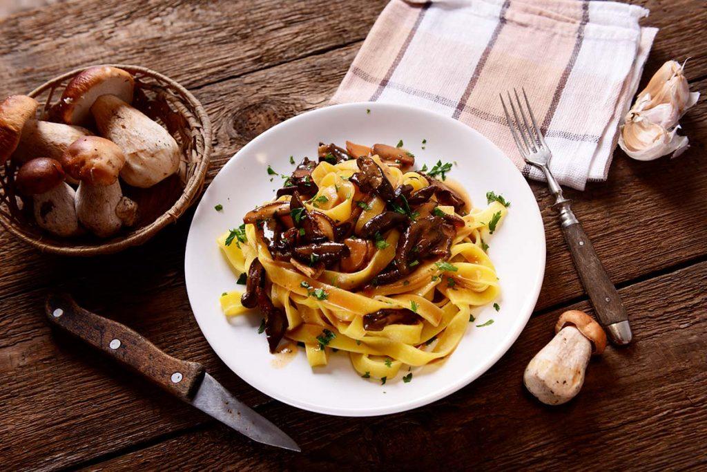 Casa Rustichella Fettuccine con funghi porcini e olio Novello ricette