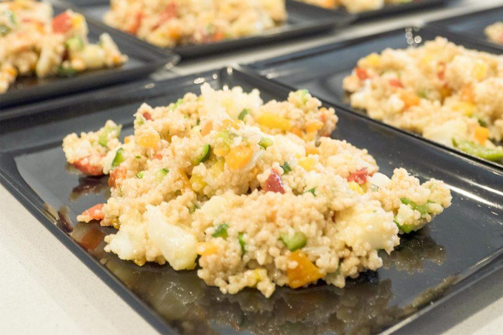 Casa Rustichella A tavola con gli chef Cous cous di farro con verdure e baccala ricetta