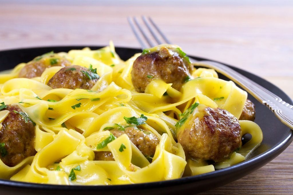 Casa Rustichella Pappardelle al limone con polpettine di carne ricette