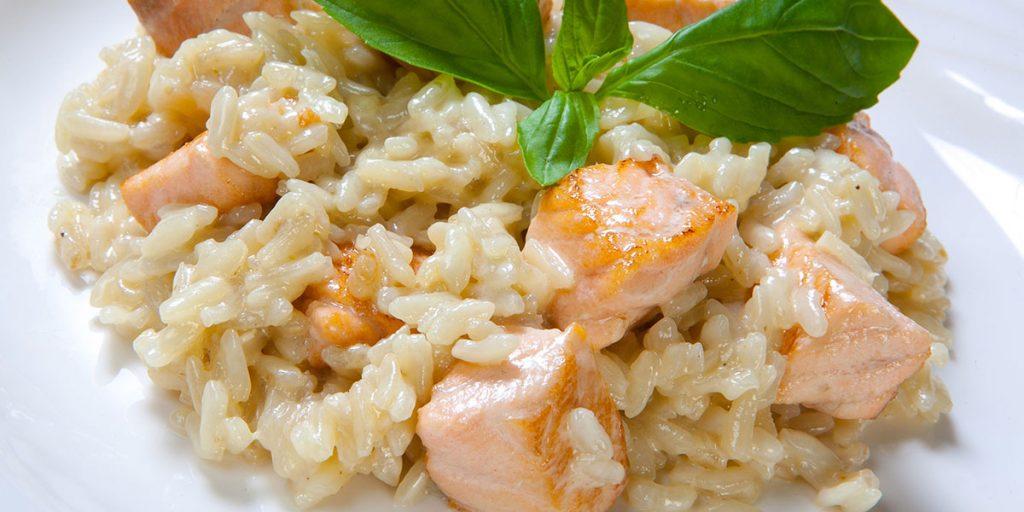 Casa Rustichella ricetta risotto con salmone