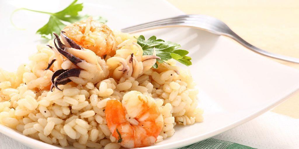 risotto con gamberi e polpo ricetta