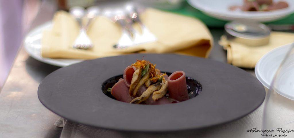 Casa Rustichella paccherini al melograno chef sagliocco