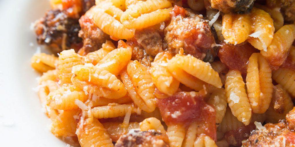Casa Rustichella Gnocchetti sardi con polpette vegetariane