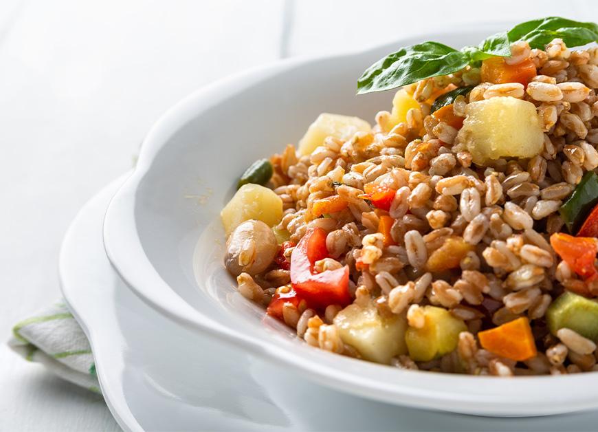 Casa Rustichella insalata di farro verdure ricetta