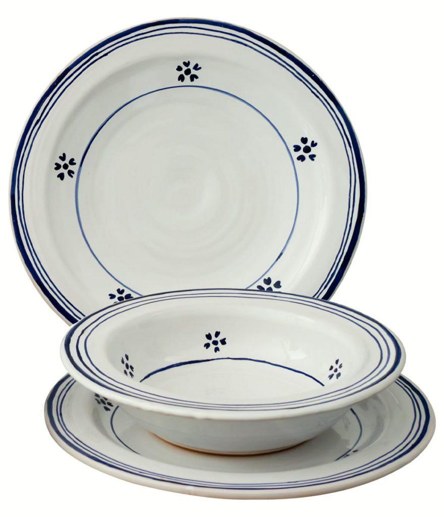 Casa Rustichella piatto ceramica set no ombra